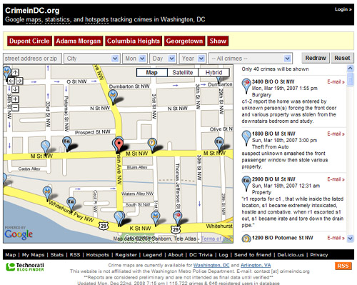 Crime Map Dc Crime Map