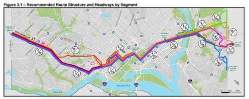 The New 30 Series Service Levels - Notice the significantly thinner band through Georgetown.