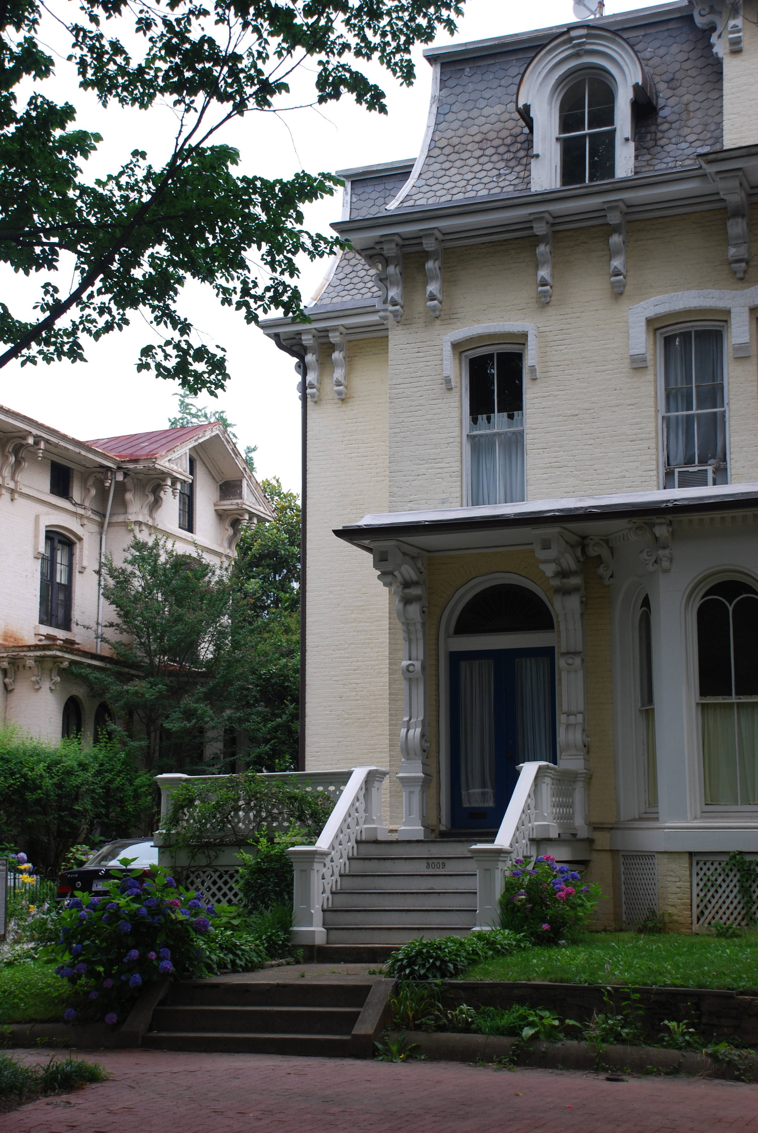 Field guide to georgetown houses the early victorian for Historic second empire house plans