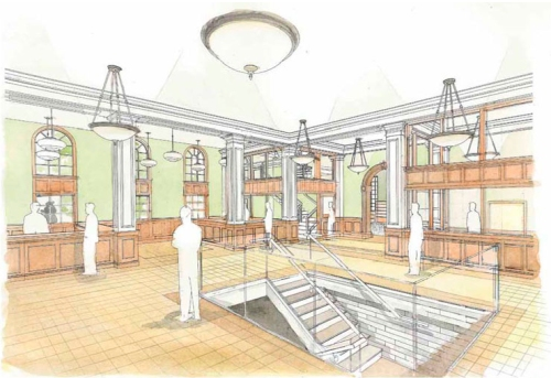 Lobby for New Georgetown Libary
