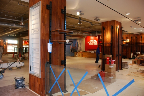 View of the North Face Store Under Construction on M St.
