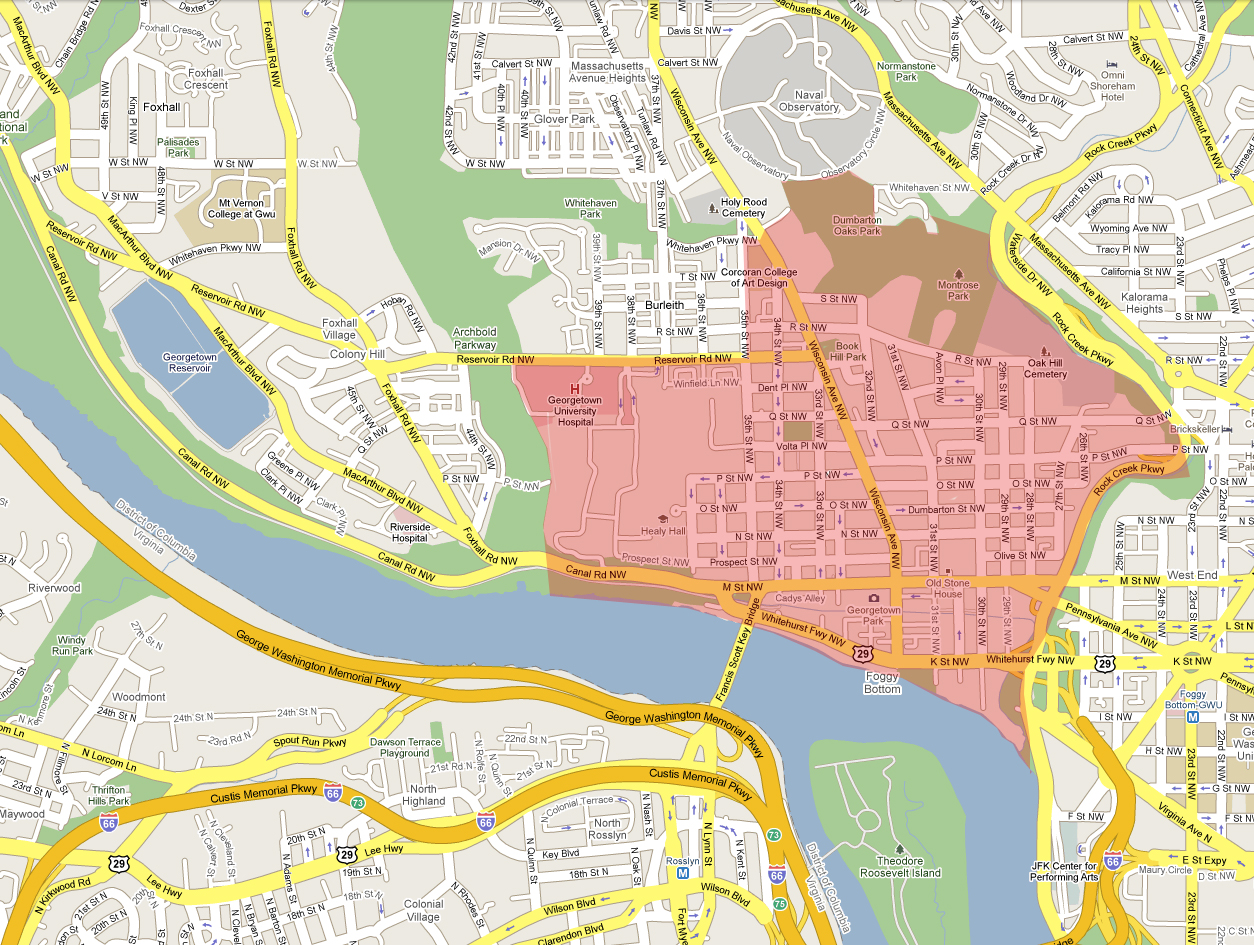 what are georgetown's boundaries  the georgetown metropolitan - what are georgetown's borders