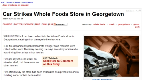 Note to Journalists: There's no Whole Foods in Georgetown