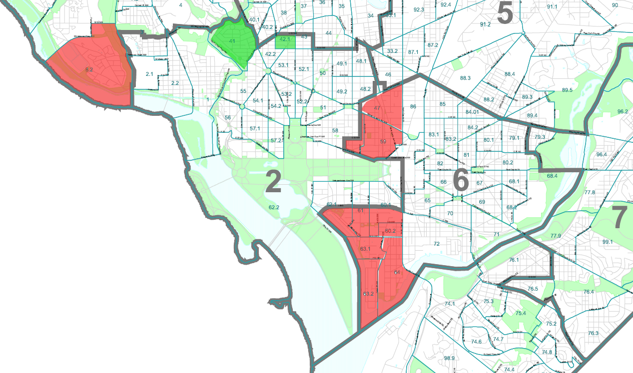 Ward 2 Dc Map | Campus Map Dc Wards Map on