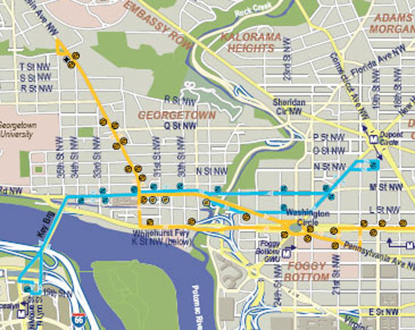 Where the Circulator Goes Now | The Georgetown Metropolitan on local map, repeater map, fan map, mbta orange line map, cta brown line map,
