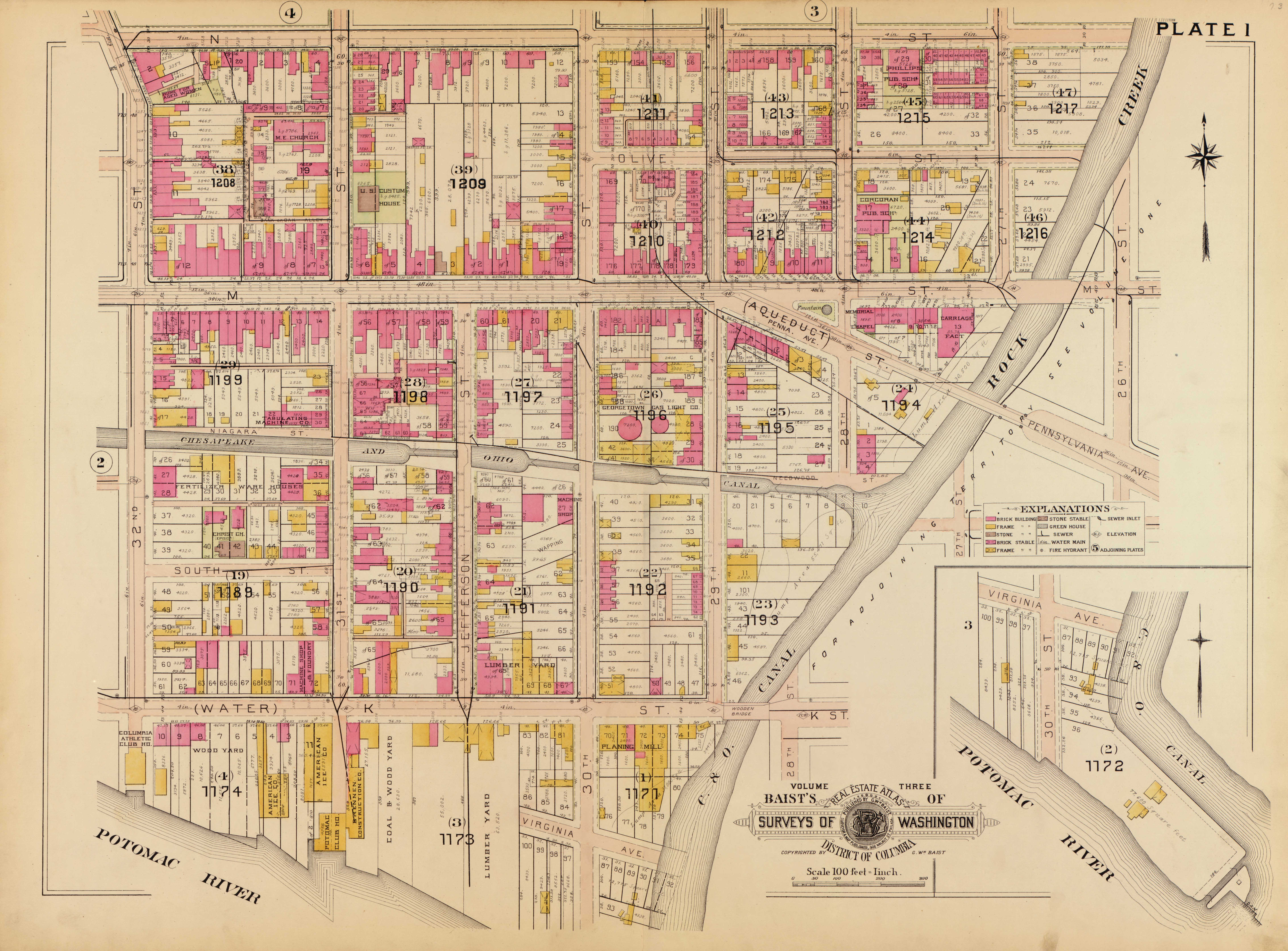 Great Old Survey Maps For Georgetown The Georgetown Metropolitan