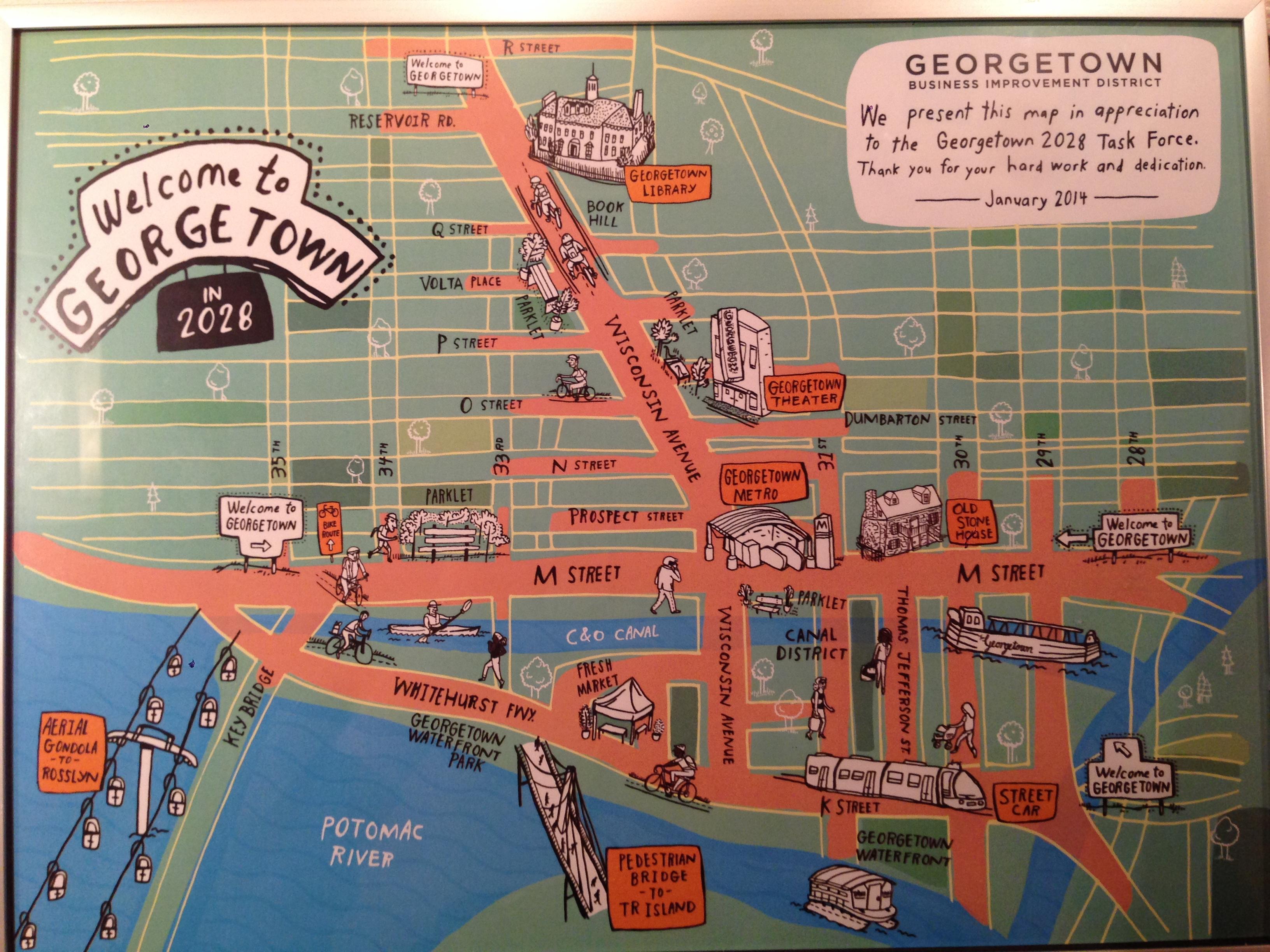 Map of Georgetown in 2028 Hopefully The Georgetown Metropolitan